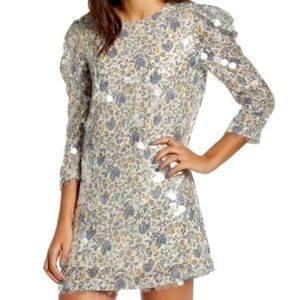 ENGLISH FACTORY ANTHRO Floral Puffed 3/4 Sleeves